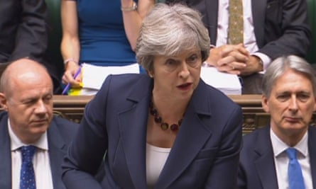 Theresa May speaking during prime minister's questions
