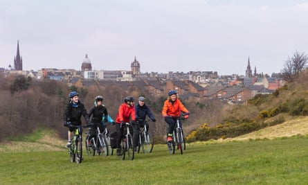 A Natural Britain experience includes exploring Edinburgh by bike