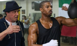 Rocky road ... Sylvester Stallone (l) and Michael B Jordan in Creed.