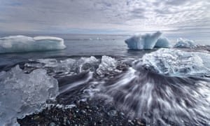 Iceland's melting glaciers.