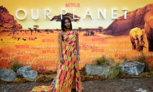 Michaela Coel at the premiere of Netflix's Our Planet, held at the Natural History Museum, London.