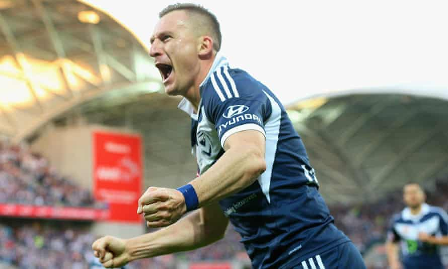 Besart Berisha scored the opening goal of the grand final and was a constant thorn in Sydney's side throughout the match in Melbourne.