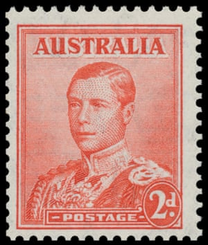 One Of The Six Surviving Australian King Edward VIII Stamps