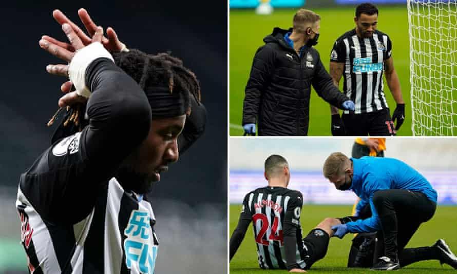Allan Saint-Maximin, Callum Wilson, Miguel Almirón are all out injured.