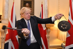 Boris Johnson rings the changes at Downing Street at 11pm on Brexit day.
