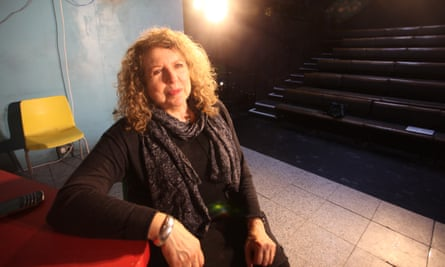 Elyse Dodgson at the Royal Court theatre, London, where she worked for more than 30 years, with five artistic directors.