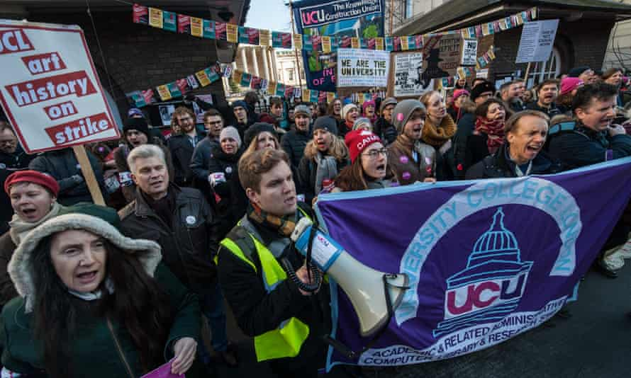 University staff took part in national strikes over pay and pensions in December.