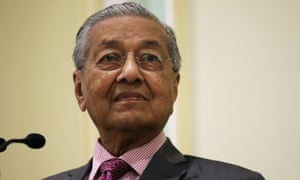 The Malaysian prime minister, Mahathir Mohamad