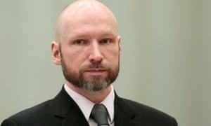 Anders Breivik in Borgarting court of appeal at Telemark prison in Skien, Norway, in January