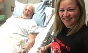 Buzz Aldrin and Christina Korp in New Zealand Thursday.