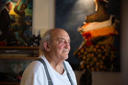 Denis Goldberg at home in Hout Bay, Cape Town.