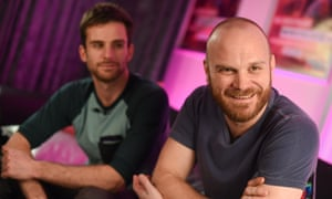 Will Champion (front) with bassist Guy Berryman