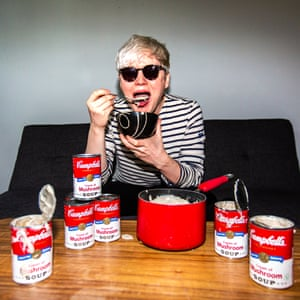 'Maybe I should have diluted it' … Oobah with the food that inspired Warhol.