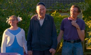 Jean Vanier, centre, in the documentary Summer in the Forest.