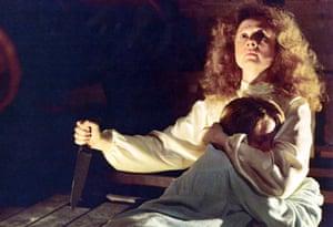 Piper Laurie and Sissy Spacek in Carrie