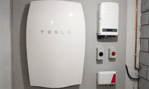 Tesla's Powerwall energy unit installed at a home in Cardiff, UK.