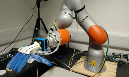 Ocado's robotic arm for picking orders is part of a five-year EU-funded collaboration between five European universities and Disney called Soma.