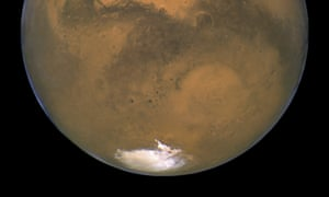 There may be salty ponds under Mars' South Pole, raising the prospect of tiny, swimming Martian life.