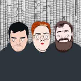 Red Richardson, Jayde Adams and Garrett Millerick of Laughable.
