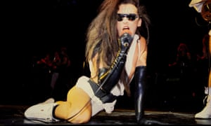 Androgynous beauty … Pete Burns performing in London in 1984.