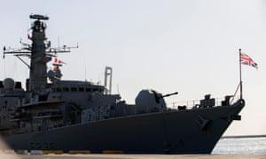British warship HMS Montrose.
