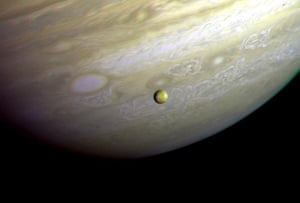 This photograph of the southern hemisphere of Jupiter was obtained by Voyager 2 on 25 June 1979