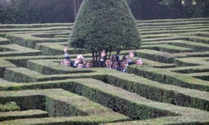 Jeremy Hunt and his EU counterparts trying to navigate the maze at the Chevening country retreat in Kent.