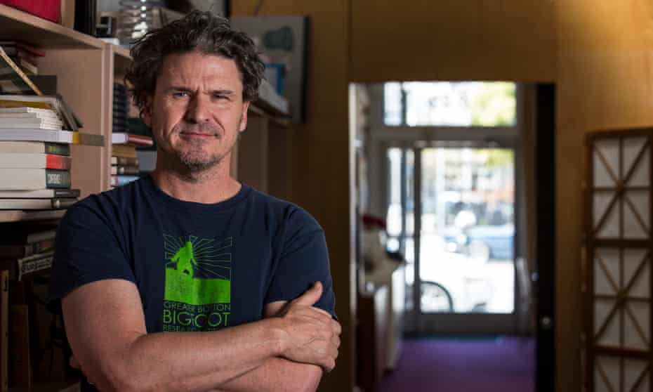 Dave Eggers, in the office of the non-profit publishing house he founded, McSweeney's, in San Francisco.