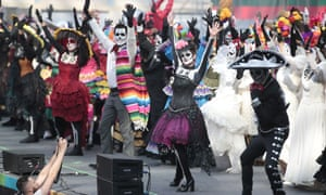 A Day of the Dead celebration at the National House of Mexico for fans at Moscow's Gostiny Dvor shopping and exhibition centre during the 2018 World Cup.