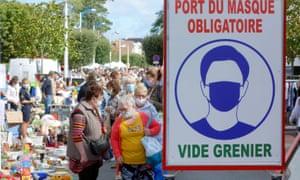 Mask sign france