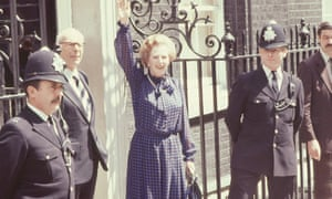 Margaret Thatcher after winning the 1983 general election.