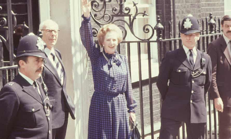 Margaret Thatcher after winning the 1983 general election.