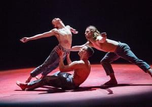 Natalia Osipova, Jason Kittelberger and James O'Hara in Qutb by Sidi Larbi Cherkaoui