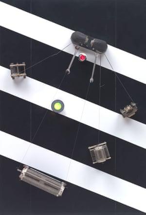Telepainting (1964). Wood, vinyl, metal, plastic, Bakelite, magnet, glass and electrical wiring.