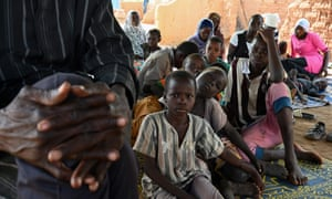 A family who are internally displaced because of jihadist violence in Burkina Faso, in the village of Yagma near Ouagadougou.