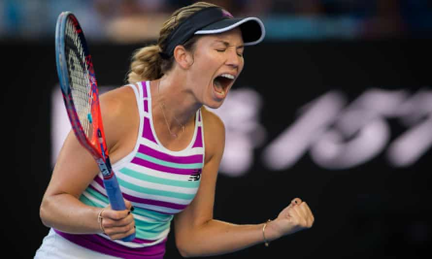Danielle Collins: 'I may not have won a grand slam match before this week but I gotta tell you, I think it's gonna keep happening'.