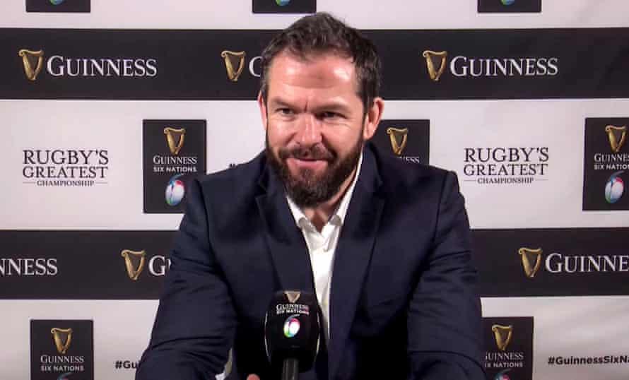 Ireland's head coach Andy Farrell.