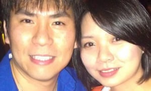 Walter Huang, left, and his wife, Sevonne Huang.
