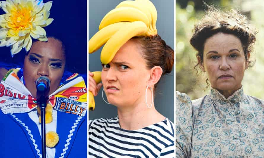 Ofa Fotu in Hot Brown Honey; Zoe Coombs Marr in Trigger Warning; Leah Purcell in The Drover's Wife.