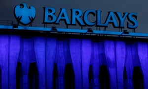 The logo of Barclays