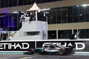 Lewis Hamilton of Great Britain wins