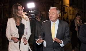 Ken Livingstone leaving Church House last night after being suspended from the Labour party for a further year.