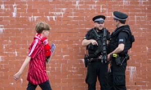 A heavy armed police presence was seen at the Scottish Cup Final.