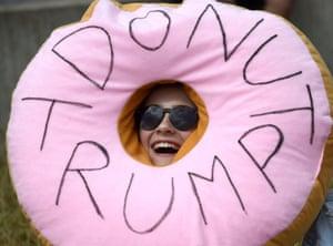 An anti-Trump doughnut in Edinburgh