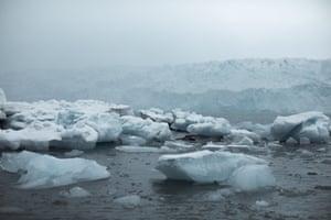 Ice blocks near the Dahlbreen glacier.