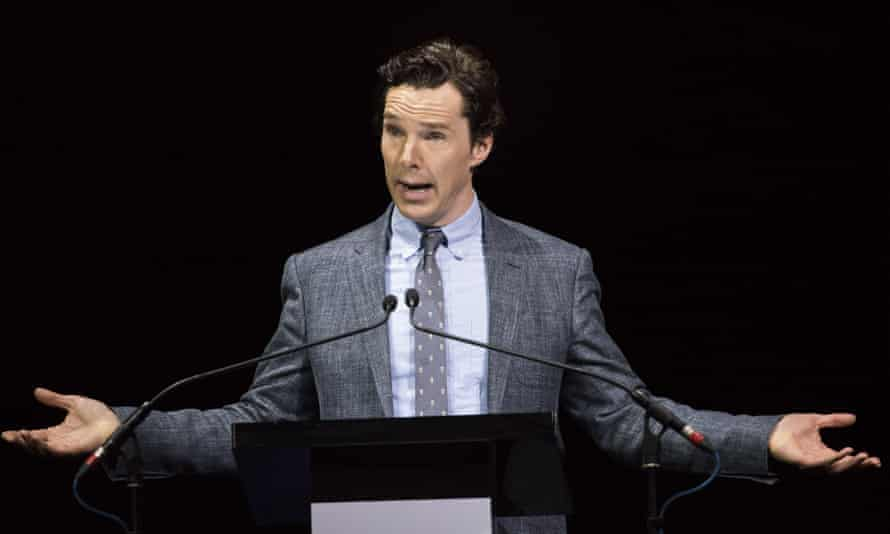 Benedict Cumberbatch: his voice may be popular with women, but low pitched voices are likely to have evolved to intimidate other men.