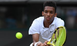 Canada's Felix Auger-Aliassime, 18, said 'the pressure got to me,' after his third-round defeat during his first Wimbledon