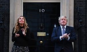 Boris Johnson and his partner, Carrie Symonds.
