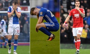 Blackburn's Sam Gallagher, Birmingham's Greg Stewart and Apostolos Vellios of Nottingham Forest will fear the worst when the Championship concludes on Sunday.
