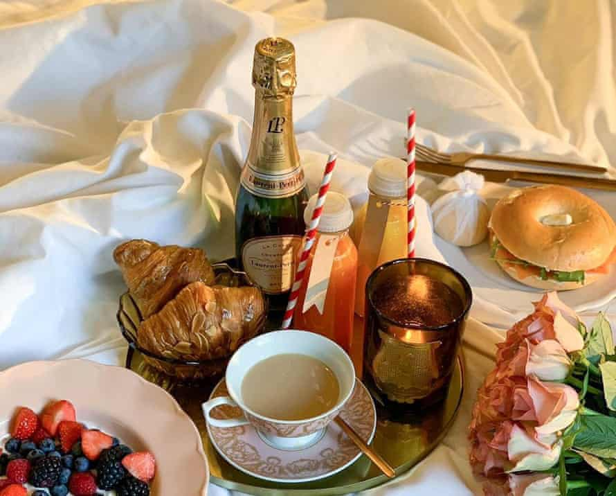 'One of life's great joys': breakfast in bed, delivered from the Berkeley in Knighstbridge.
